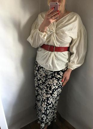 Блуза с переплётом ,лён и вискоза 😍