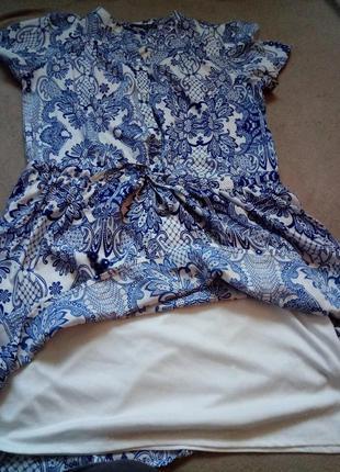 Легкое платье с кулиской заниженной талией