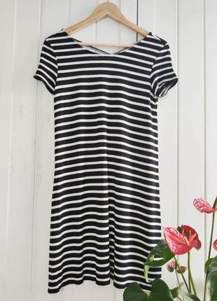 Полосатое платье от only, размер xs-s