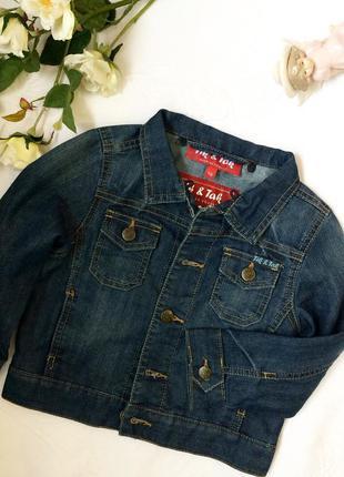 Джинсова курточка фірми tik&tak на дівчинку 2-3 роки.