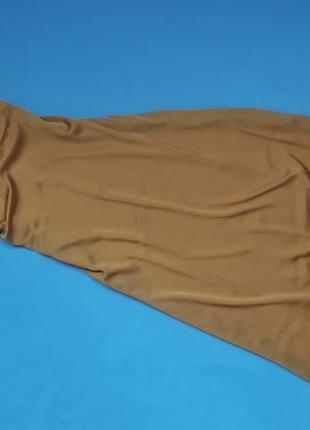 Горчичное платье-комбинация zara
