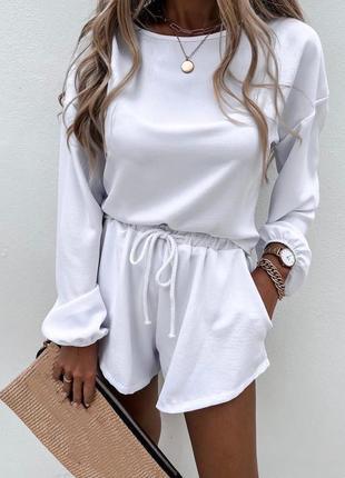 Костюм блуза+шорты1 фото