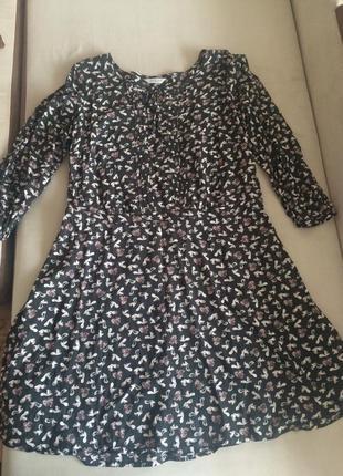 Платье из вискозы с принтом