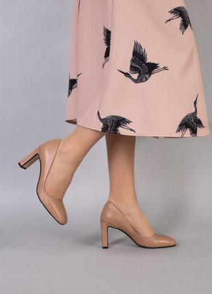 Кожаные туфли карамельного цвета