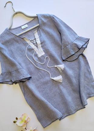 Льняная рубашка под вышиванку