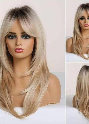 Парик блонд с модельной стрижкой ❤