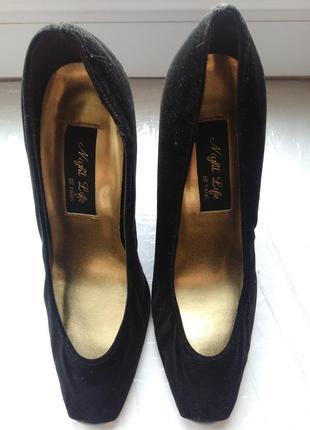 Женские черные туфли. натуральная замша. франция night life of paris2 фото