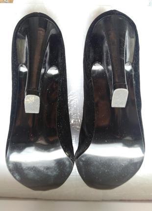 Женские черные туфли. натуральная замша. франция night life of paris4 фото