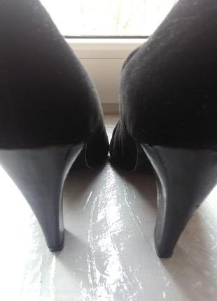 Женские черные туфли. натуральная замша. франция night life of paris5 фото