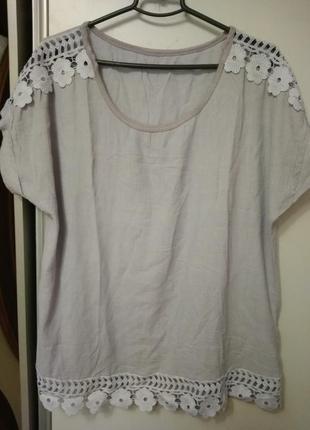 Блуза, футболка, италия, размер 561 фото
