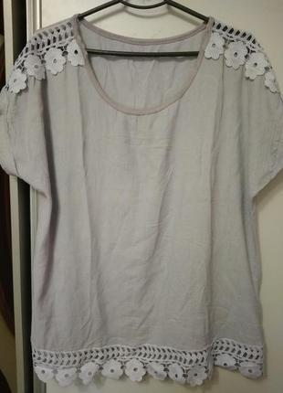 Блуза, футболка, италия, размер 562 фото