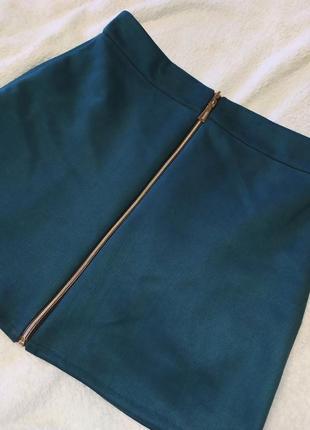 Замшевая юбка на молнии3 фото