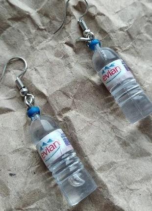 Серьги с бутылочками