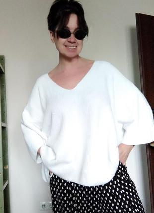 Оверсайз белый котоновый летний  свитшот white label1 фото