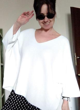 Оверсайз белый котоновый летний  свитшот white label4 фото