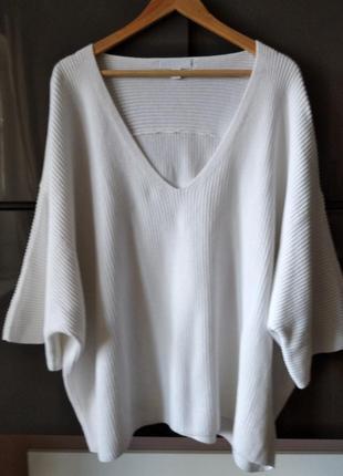 Оверсайз белый котоновый летний  свитшот white label2 фото
