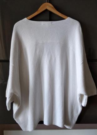 Оверсайз белый котоновый летний  свитшот white label6 фото