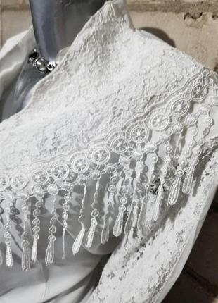 Винтаж блуза ретро кружева2 фото