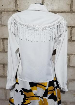 Винтаж блуза ретро кружева4 фото