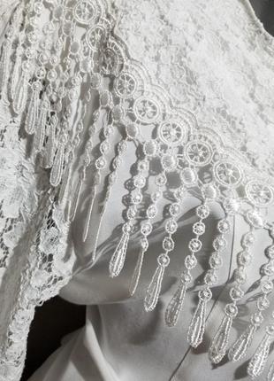 Винтаж блуза ретро кружева9 фото