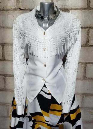 Винтаж блуза ретро кружева1 фото
