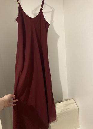 Довге плаття марсала3 фото