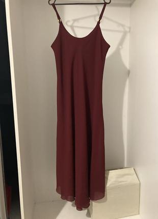 Довге плаття марсала1 фото