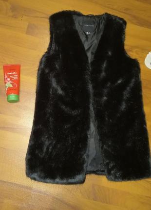 Меховая жилетка new look1 фото