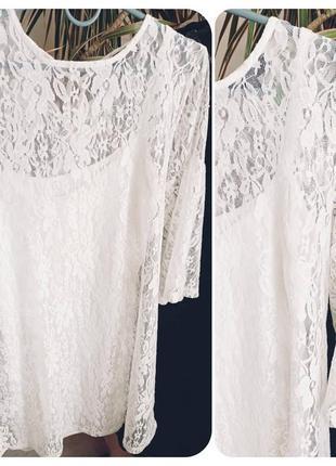 Нарядное гипюровое белое платье 36р 38р1 фото