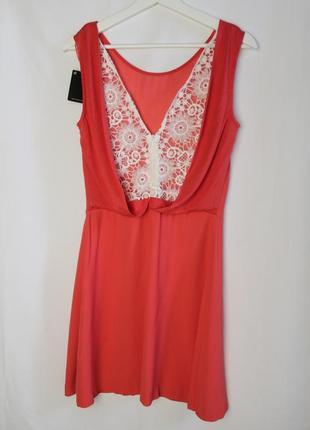 Massimo dutti новое платье сарафан с ажурной вышитой спиной вискоза натуральное2 фото
