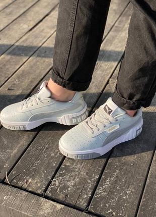 Женские стильные кроссовки puma cali grey1 фото