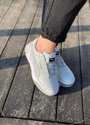 Женские стильные кроссовки puma cali grey5 фото