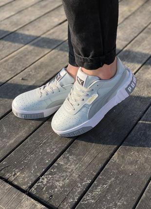 Женские стильные кроссовки puma cali grey6 фото