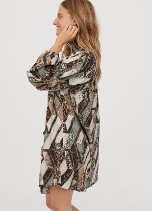 Шикарна сукня в зміїний принт з об'ємними рукавами від h&m5 фото