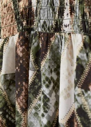Шикарна сукня в зміїний принт з об'ємними рукавами від h&m3 фото
