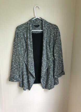 Классический пиджак прямого кроя піджак вільного крою накидка з підкладкою1 фото