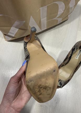 Туфли bershka с открытым носком5 фото