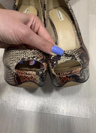 Туфли bershka с открытым носком8 фото