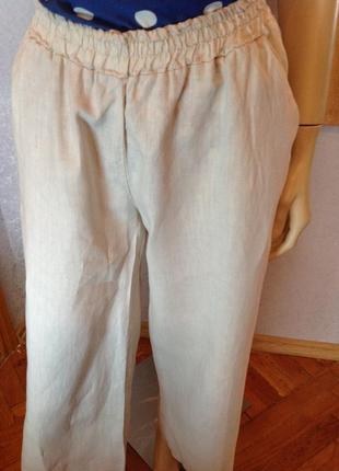 Льняные брюки фасон палаццо, бренда zebra, р. 44-465 фото