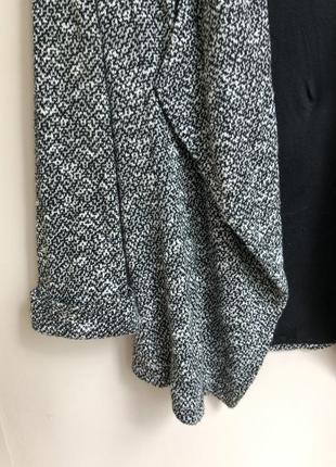 Классический пиджак прямого кроя піджак вільного крою накидка з підкладкою4 фото