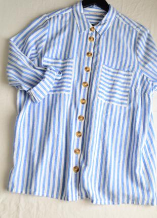 5088\67 льняная рубашка в полоску tu xxxxl4 фото