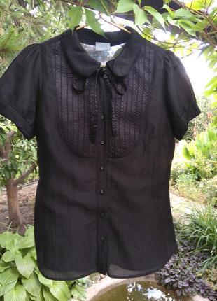 Красивая хлопковая/шелковая блузка/рубашка oasis (хлопок, шёлк)1 фото