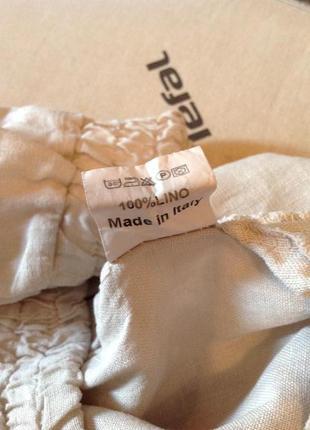 Льняные брюки фасон палаццо, бренда zebra, р. 44-467 фото