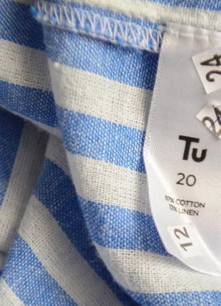 5088\67 льняная рубашка в полоску tu xxxxl6 фото