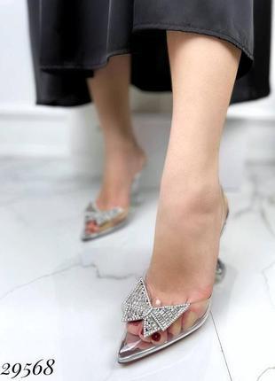 🔥 шикарные силиконовые босоножки прозрачные туфли каблук рюмочка amina muaddi4 фото