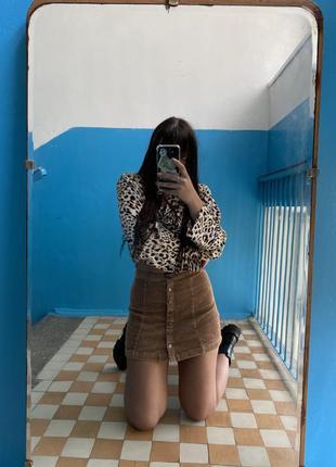 Вельветовая юбка2 фото