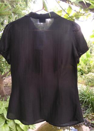 Красивая хлопковая/шелковая блузка/рубашка oasis (хлопок, шёлк)2 фото