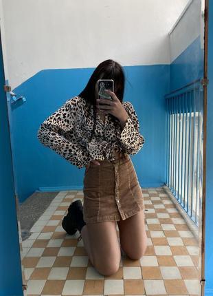Вельветовая юбка1 фото