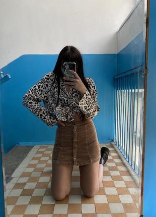 Вельветовая юбка6 фото