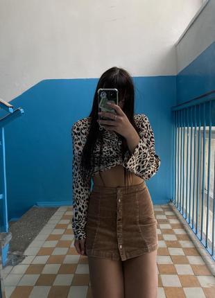 Вельветовая юбка4 фото